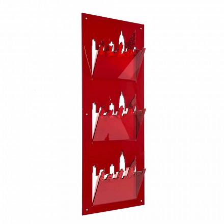 Portariviste da Parete a Tre Scomparti in Plexiglass Made in Italy – Filarino