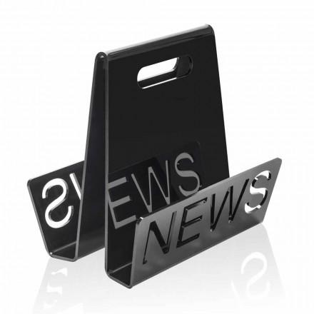 Portariviste di Design in Plexiglass Nero o Trasparente Made in Italy – Omar