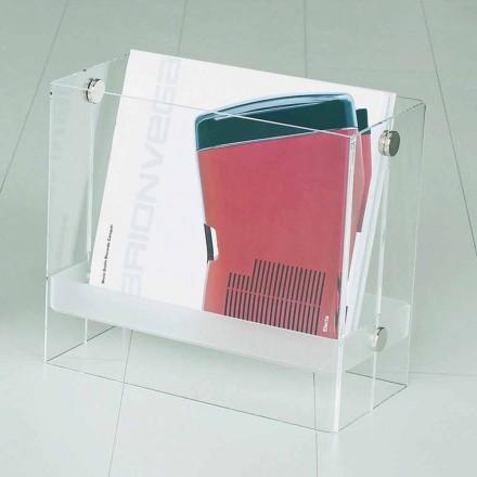 Portariviste di design moderno in metacrilato trasparenteTanko