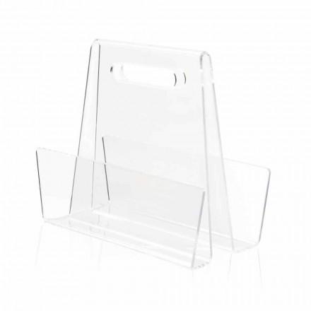 Portariviste Moderno in Plexiglass Trasparente Prodotto in Italia – Immoral