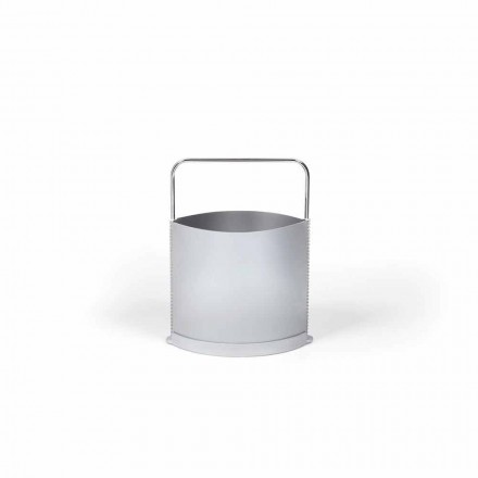 Portariviste modernoin polipropilene nei colori grigio e opalinoGino