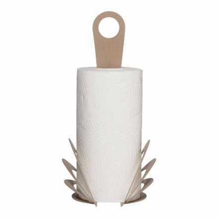 Portarotolo Asciugatutto da Cucina in Ferro Fatto a Mano, Made in Italy - Futti