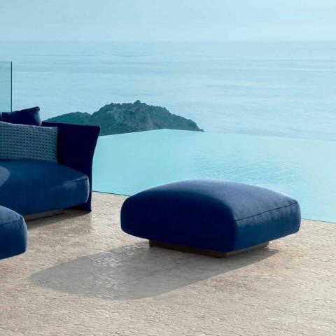 Pouf da esterno moderno in tessuto Cliff Talenti, design Palomba