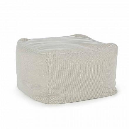 Pouf da Esterno Quadrato Rivestito in Tessuto Idrorepellente, Homemotion - Lydia