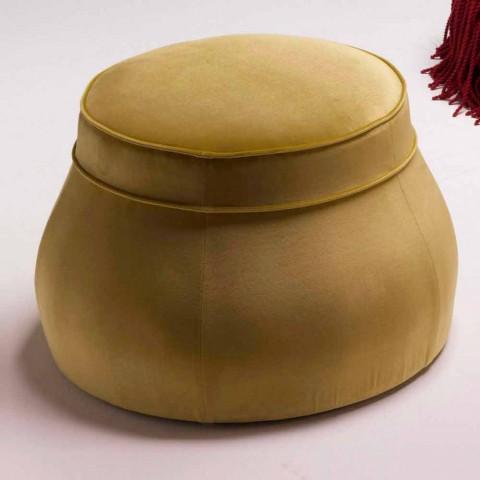 Pouf Da Salotto.Pouf Da Salotto Imbottito Design Classico Di Lusso Made In Italy Simon