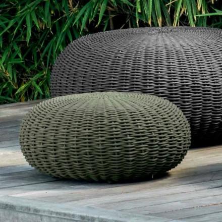 Pouf piccolo e rotondo Jackie by Talenti design moderno da giardino