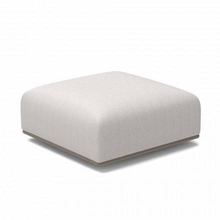 Pouf Quadrato da Giardino di Design Tessuto Bianco o Grigio – Scacco by Talenti