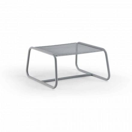 Pouf Tavolino per il Giardino Design in Metallo Colorato Made in Italy - Karol