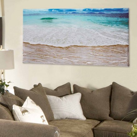Quadro di design moderno Beach by Viadurini Decor fatto a mano