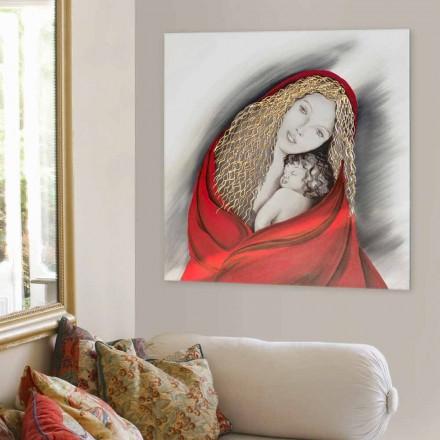 Quadro moderno di design fatto a mano Madonna