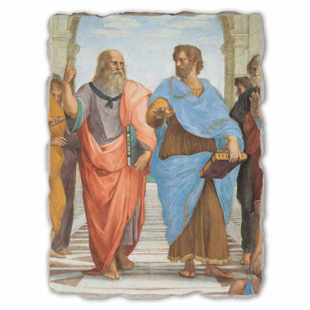 """Raffaello Sanzio """"Scuola di Atene"""" part. Platone e Artistotele"""