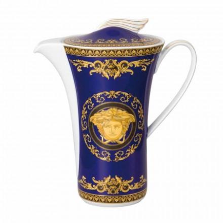 Rosenthal Versace Medusa Blue caffettiera in porcellana per 6 persone