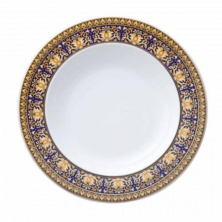 Rosenthal Versace Medusa Blue Piatto fondo moderno design porcellana