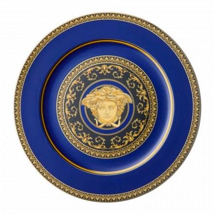 Rosenthal Versace Medusa Blue Piatto segnaposto di design porcellana