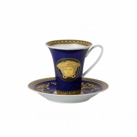 Rosenthal Versace Medusa Blue Tazza da caffè alta di design porcellana
