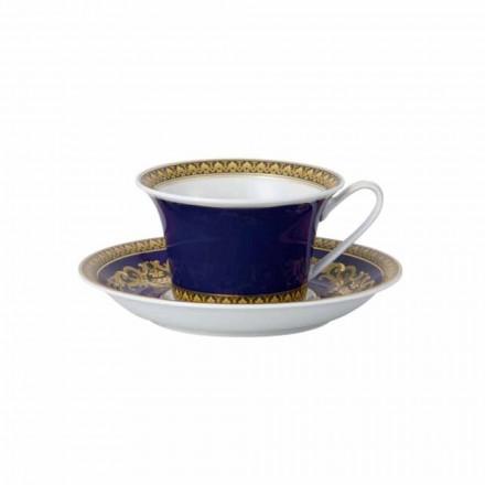 Rosenthal Versace Medusa Blue Tazza da tè di moderno design porcellana
