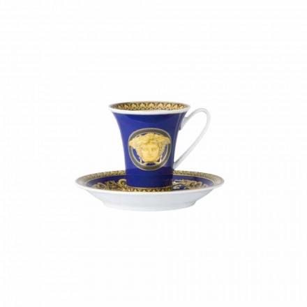 Rosenthal Versace Medusa Blue Tazzina da caffè di design in porcellana