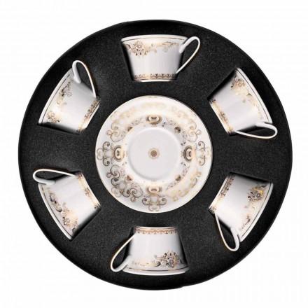 Rosenthal Versace Medusa Gala Gold set tazze in porcellana da tè 6 pz
