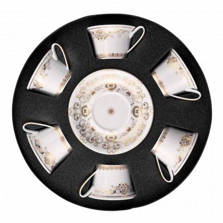 Rosenthal Versace Medusa Gala set tazze da tè in porcellana 6 pezzi