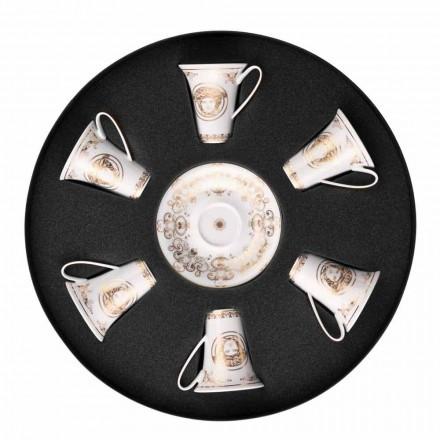 Rosenthal Versace Medusa Gala set tazze espresso 6 pezzi in porcellana