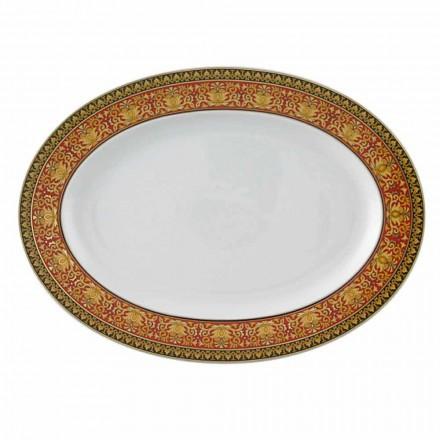 Rosenthal Versace Medusa Rosso Piatto ovale di design in porcellana