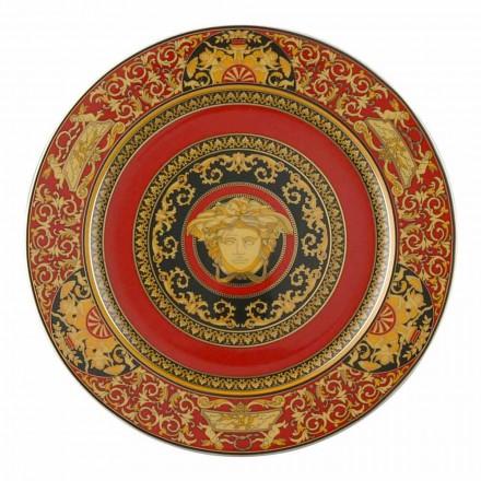 Rosenthal Versace Medusa Rosso Piatto segnaposto 30cm in porcellana