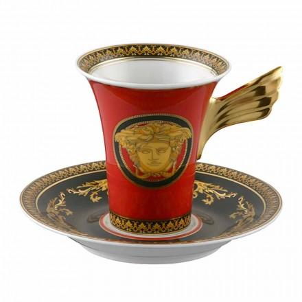 Rosenthal Versace Medusa Rosso Tazza da caffè alta design porcellana