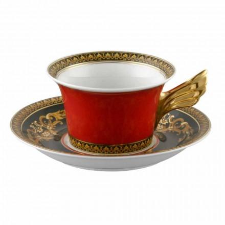 Rosenthal Versace Medusa Rosso Tazza da tè  moderno design  porcellana