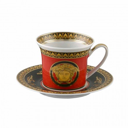 Rosenthal Versace Medusa Rosso Tazzina espresso design in porcellana