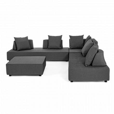 Salotto Angolare per Esterno di Design Moderno in Tessuto Homemotion - Benito