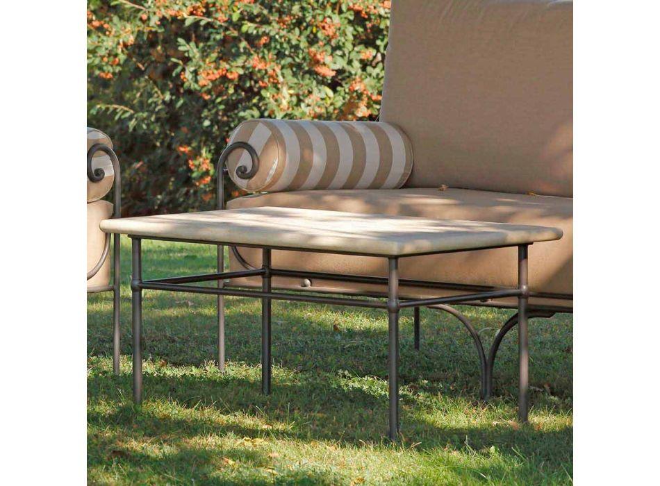 Salotto da Giardino Artigianale con Struttura in Ferro Made in Italy - Lisotto