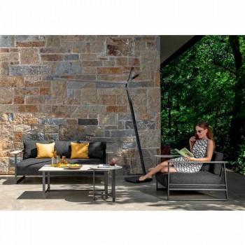 Salotto da Giardino di Lusso in Alluminio, Gres e Tessuto - Riviera by Talenti