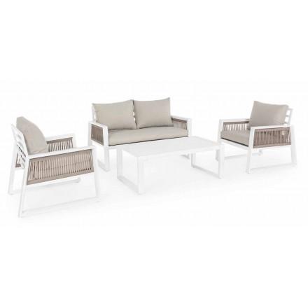 Salotto da Giardino in Alluminio Bianco o Nero di Design - Pioggialatte