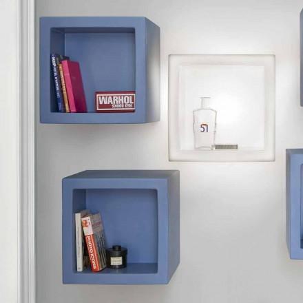 Scaffale colorato a cubo Slide Open Cube design moderno fatto Italia
