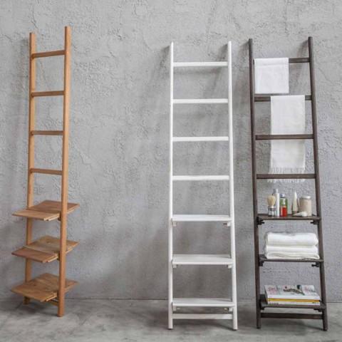 Scala Porta Asciugamani di Design in Legno di Diversi Colori - Mahmood
