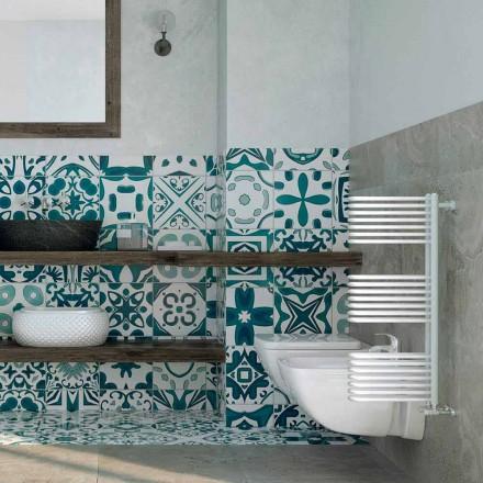 Scaldasalviette bianco idraulico di design Corner Scirocco H