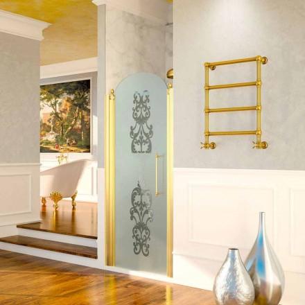 Scaldasalviette elettrico Scirocco H Caterina oro in ottone, di design