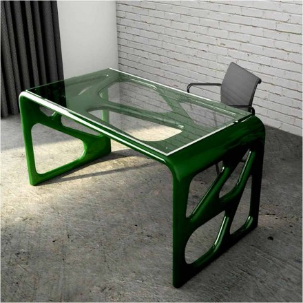 Scrivania Design in Solid Surface Illa Made in Italy