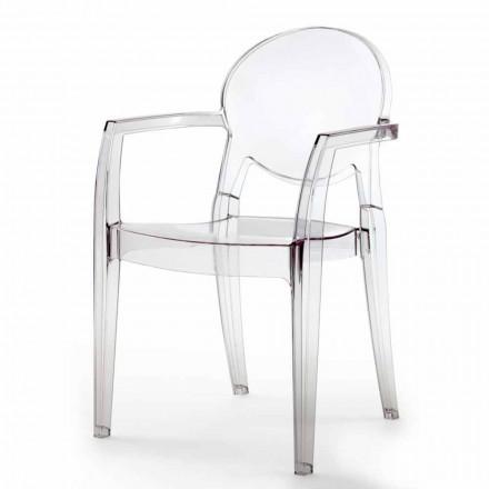Sedia con Braccioli di Design Moderno in Policarbonato - Dalila