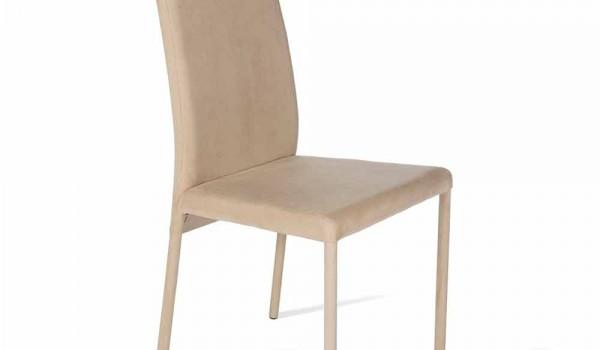 Sedia moderna con schienale alto rivestita becca h102cm made in italy