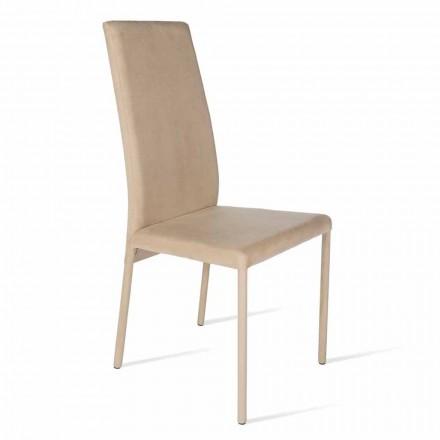 Sedia con schienale alto di design moderno Becca, prodotta in Italia