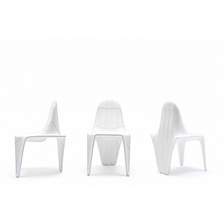 Sedia da esterno di design impilabile F3 by Vondom, in polietilene