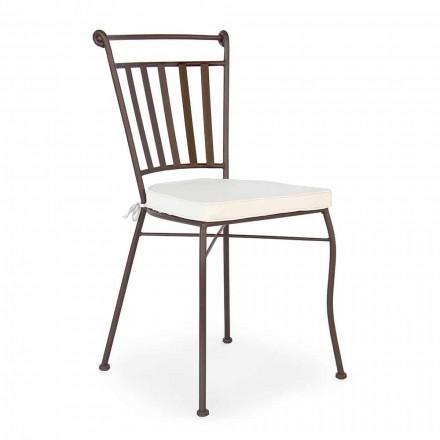 Sedia Design da Esterno in Acciaio con o senza Braccioli da Giardino  - Ionico