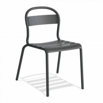 Sedia da Esterno in Alluminio Impilabile Made in Italy, 4 Pezzi - Ulyssa