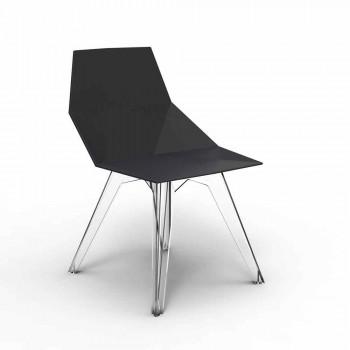 Sedia da esterno in policarbonato e polipropilene Faz Vondom di design