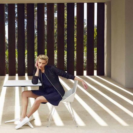 Sedia da esterno in policarbonato e polipropilene Faz Vondom di design, 4 pezzi