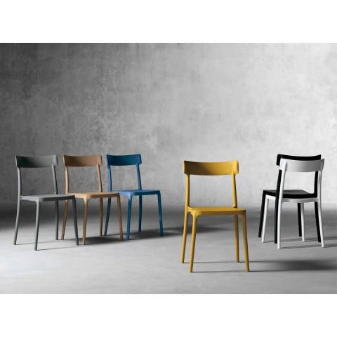 Sedie Da Esterno Design.Sedia Da Esterno Interno Di Design In Polipropilene Made In Italy Peia