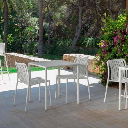Sedia da esterno moderna impilabile Trocadero Talenti, in alluminio