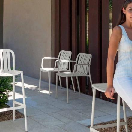 Sedia da giardino con braccioli Trocadero Talenti in alluminio