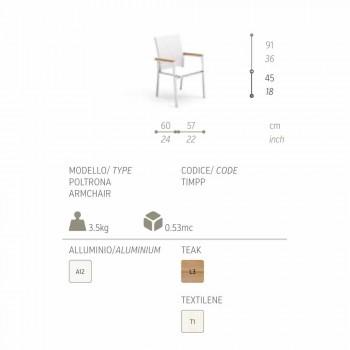 Sedia da giardino dal design moderno Timber by Talenti